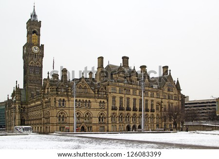 Bradford Town Hall, West Yorkshire, UK
