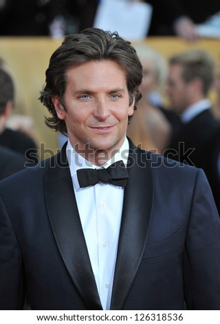 Bradley Cooper at the 19th Annual Screen Actors Guild Awards at the Shrine Auditorium, Los Angeles. January 27, 2013  Los Angeles, CA Picture: Paul Smith