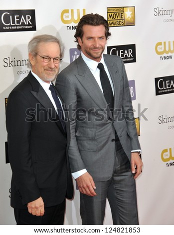 Bradley Cooper & Steven Spielberg at the 18th Annual Critics' Choice Movie Awards at Barker Hanger, Santa Monica Airport. January 10, 2013  Santa Monica, CA Picture: Paul Smith