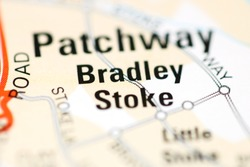 Bradley Stoke on a geographical map of UK