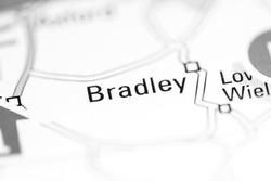 Bradley. United Kingdom on a geography map