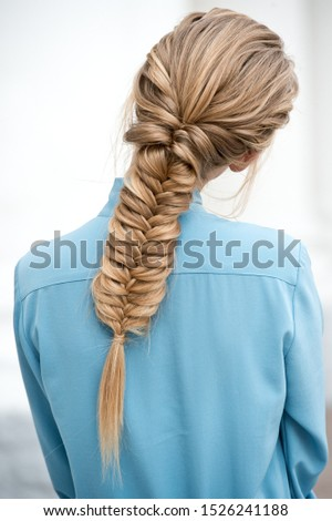 Braided hair. Boho hairstyle. Bride hairstyle.