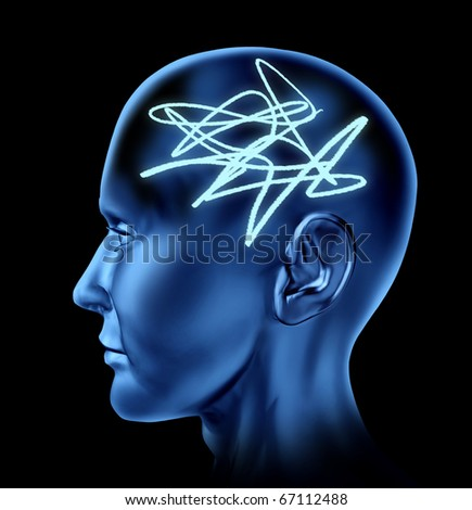 Brain confused mental tangle alziemers memory loss