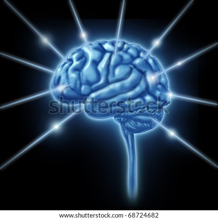 brain connections intelligence lobe sections divisions of mental neurological lobes activity isolated - stock photo