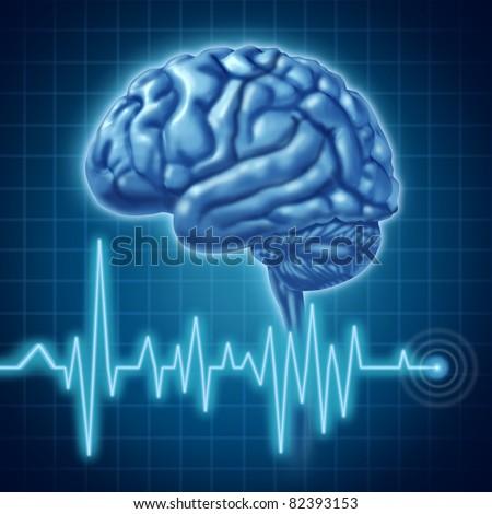 Brain function medical symbol