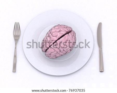 brain in the dish 3d illustration