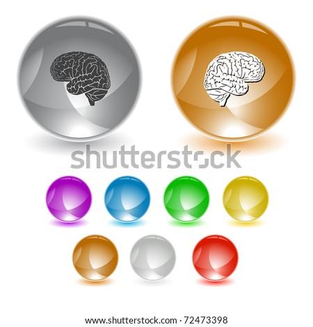 Brain. Raster interface element. Vector version is in portfolio.