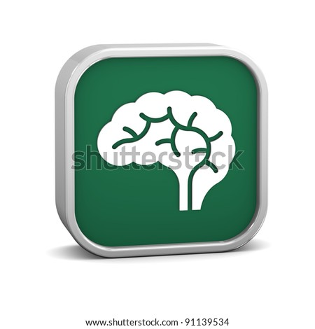 Brain sign on a white background