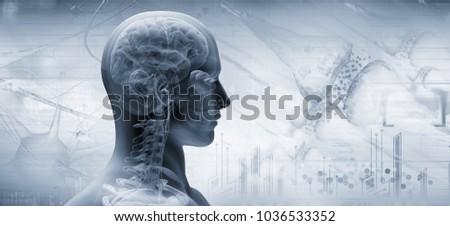 brain, thinking concept, 3d illustration