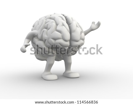 Brain. This is a 3d render illustration