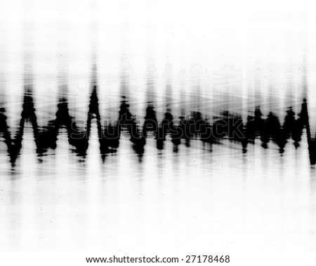 brain wave pattern on a white background