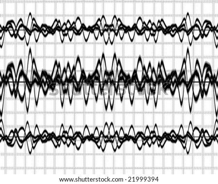 Background Brain Waves Brain Waves on a Solid White