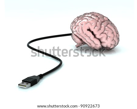 brain with attached USB cable