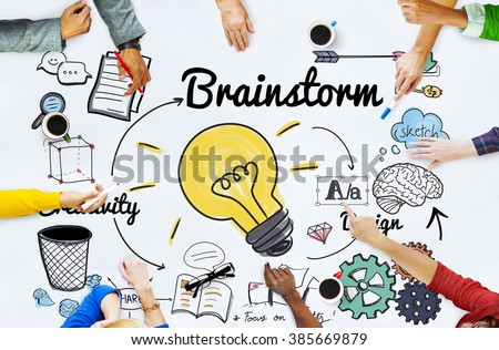 Brainstorming Analysis Planning Sharing Meeting Concept #385669879