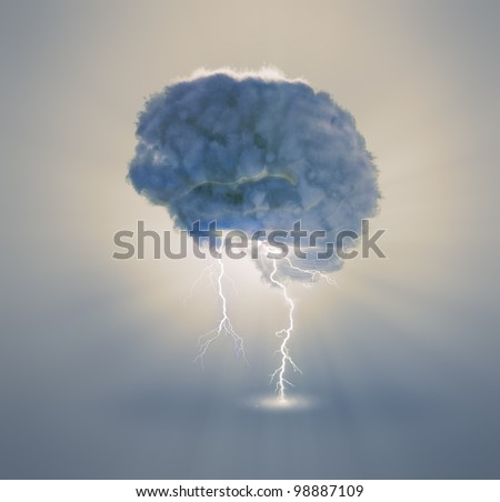 Brainstorming and creativity concept illustration - stock photo