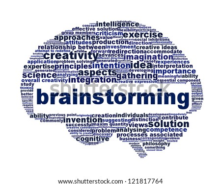 Brainstorming creative thinking message symbol. Human intelligence icon design
