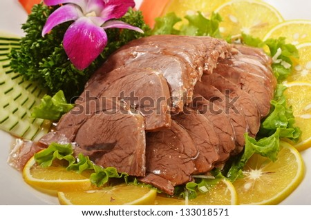 braised beef shank - stock photo