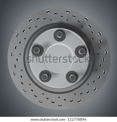Brake Disc 3d render High resolution