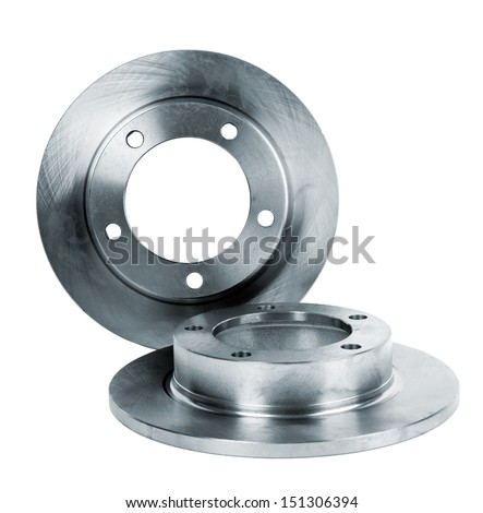 brake disc isolated on white