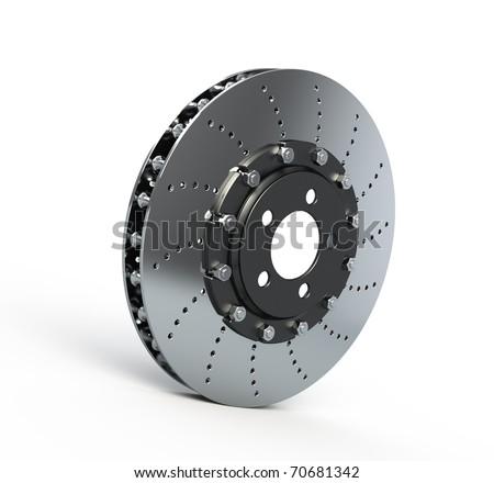 Brake disc isolated on white - 3d render