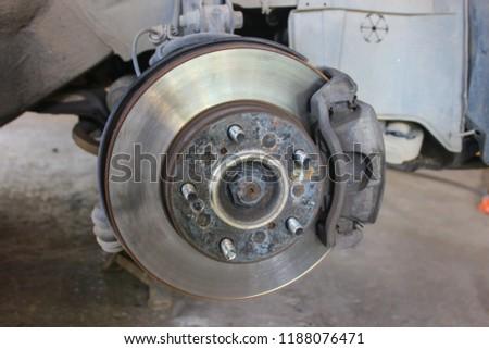 Brake discs with brake discs. #1188076471