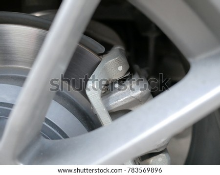brake disk with alloy wheel. #783569896