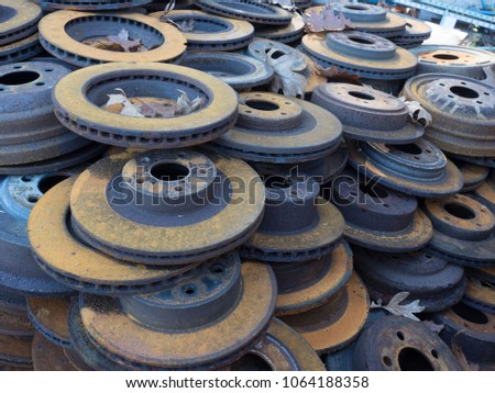 Brake disks with rust #1064188358