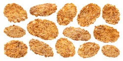 Bran flakes isolated on white background with clipping path