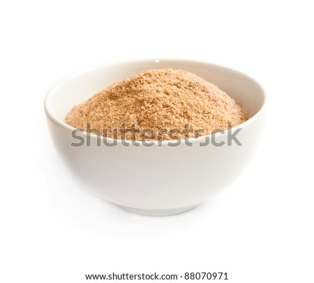 bran in a bowl isolated on white background
