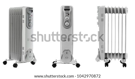 brand new and modern heater on white background #1042970872