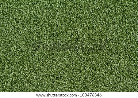 Brand new artificial grass of a field