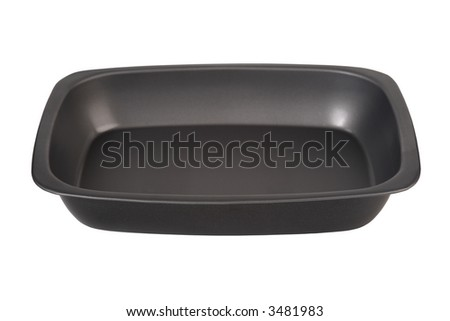 Brand new baking tin. isolated on white