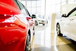 Brand new cars at lpremuim dealer showroom