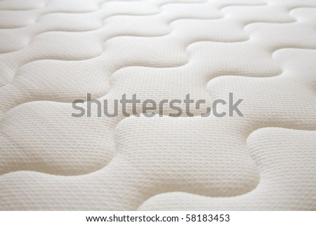 brand new clean spring mattress surface