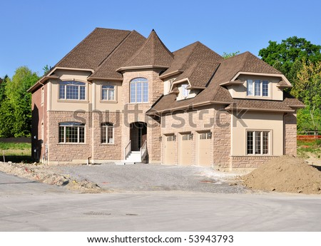 Brand new house with a triple garage