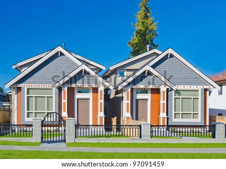 Brand new houses for sale   in suburbs of Vancouver, Canada