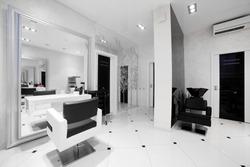 brand new interior of european beauty salon
