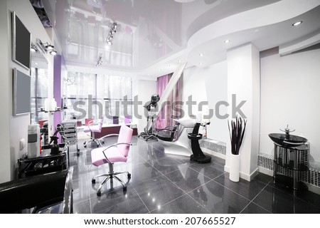 brand new interior of european beauty salon #207665527