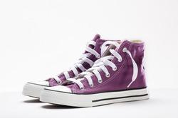 brand new purple sneakers
