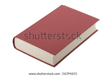 Brand new red hardcover book with blank cover