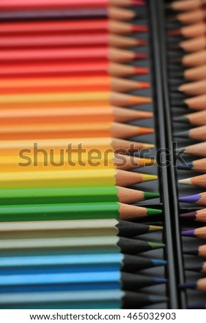 Brand new unused color pencils in box #465032903