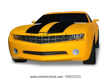 Sport Cars on Brand New Yellow Sports Car With Classic Retro Styling  Isolated On A
