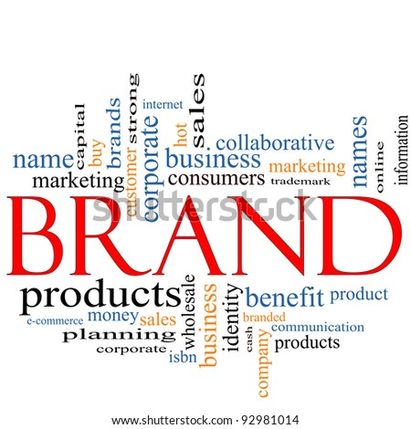 Brand Word Cloud Concept with great terms such as consumers, trademark, online, marketing, corporate, product and more.