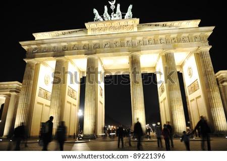 Brandenburg Gate at night - stock photo
