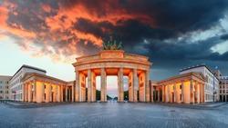 Brandenburg Gate, Berlin, Germany - panorama
