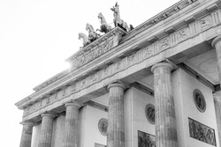 Brandenburg Gate (Brandenburger Tor) famous landmark in Berlin