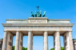 Brandenburg Gate (Brandenburger Tor) in center of Berlin, Germany