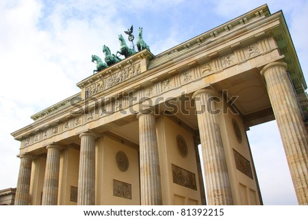 Brandenburg Gate of Berlin, landmark in Germany