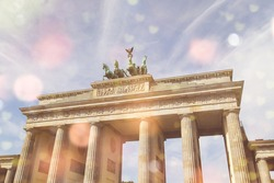 Brandenburger gate and lighteffects