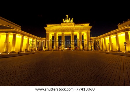 Brandenburger Tor bei Nacht Stock foto ©